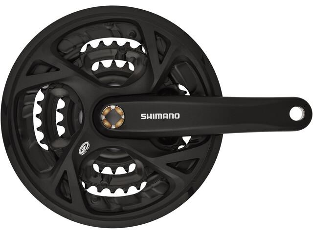 Shimano FC-M371 Kranksett Trekking firkant 9-gir 48-36-26 tenner Svart